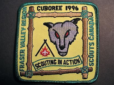 Boy Scouts Canada Fraser Valley Region Cuboree 1996 Cubs Embroidered  Patch