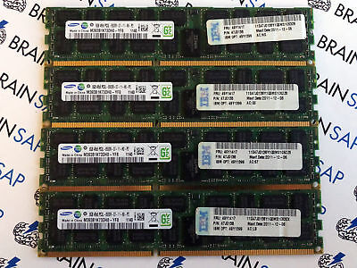 16GB (4x 4GB) Samsung 1Rx4 DDR3-1333 PC3-10600R Server RAM M393B5270CH0-CH9Q5