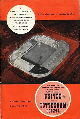 MANCHESTER UNITED v TOTTENHAM 1963/64 CUP WINNERS CUP