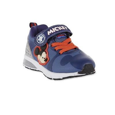 NEW NWT Toddler Boys Mickey Mouse Light Up Sneakers Size 6 7 8 9 10 or 12