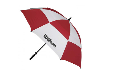 "Wilson Golf 62"" Double Canopy Windproof Umbrella (Red/white)"