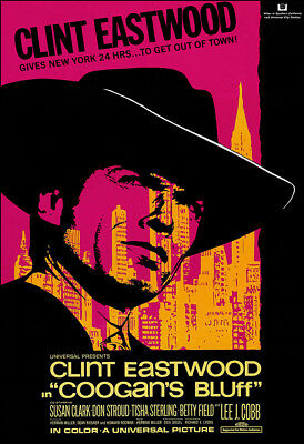 Coogan's Bluff Movie Poster Print - 1968 - Action - 1 Sheet Artwork - Eastwood