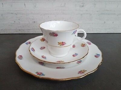 6453 Colclough China - Tea cup, saucer and plate set