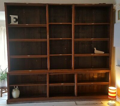 Extra Large Antique mahogany bookcase - vintage display
