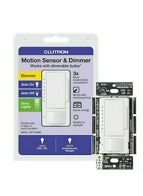 Lutron  Maestro Occupancy Sensor CFL/LED Dimmer MSCL-OP153MH-WH