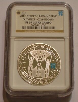 2012 PIEDFORT Silver 5 pound Great Britain NGC PF 69 ULTRA CAMEO Countdown