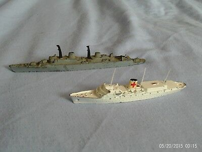 vintage triang hms devonshire and rms britannia ships.