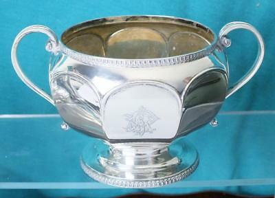 227g Heavy Gauge Mappin & Webb Solid Silver Two Handled Bowl - Sheffield 1917