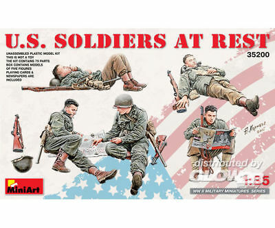 MiniArt 35200 US Soldiers at Rest in 1:35