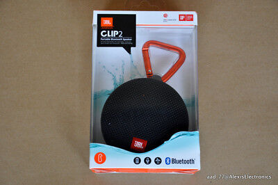 New Jbl Clip 2 Portable Bluetooth Speaker Color: Black Ipx7 Fast Free Shipping