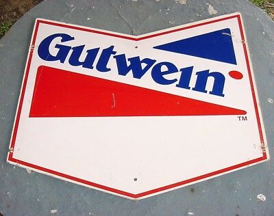 NICE 1960s Vintage GUTWEIN SEED CORN Old Die-Cut Cornfield Farm Sign