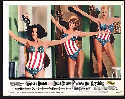 PROMISE HER ANYTHING Lobby Card (Fine) 1966 Warren Beatty Movie Poster Art 1189