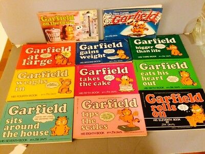 Vintage 1978 Garfield Jim Davis Comic Books Strips Cartoons Lot Of 11