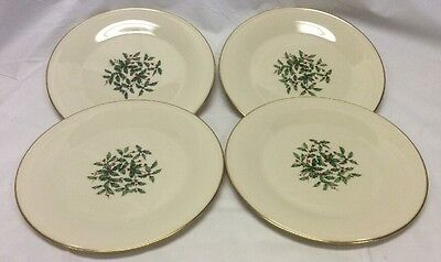 Vintage Lenox Holiday Special Dinner Plates Set Of Four (4)