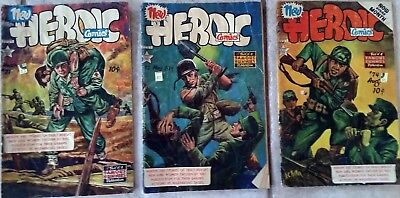 Vintage Heroic Comics, #71, 72, 74,  March to August 1952, private seller