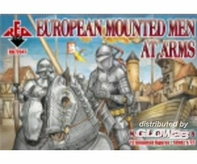 Red Box RB720 European Mounted Men at ArmsWar of the Roses 8 in 1:72