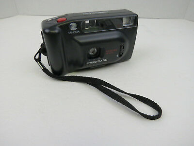 Minolta Freedom 50 Camera Point & Shoot 35mm with Built in Flash