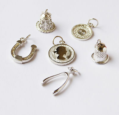 Silver Celebrations - 6 x Sterling Silver Luxury Christmas Pudding Charms