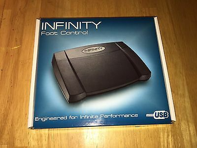 """Infinity """"In-USB-2"""" Foot Control USB Connect w/ Disc for Mac OS & Headphones"""