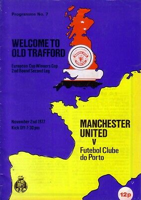 MANCHESTER UNITED v PORTO 1977/78 CUP WINNERS CUP