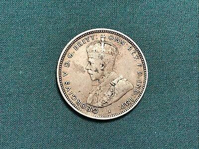 1914 George V Commonwealth of Australia 1 One Shilling Sterling Silver Coin