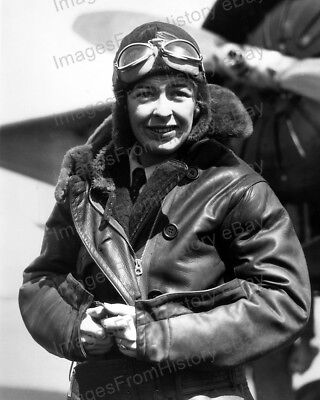 8x10 Print Historic Aviatrix Elinor Smith Roosevelt Field Long Island 1931 #ESRF