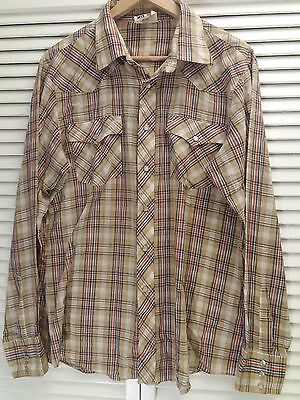 Rare 70s Vintage Saturdays In California Plaid Longsleeve Button-up Shirt XL