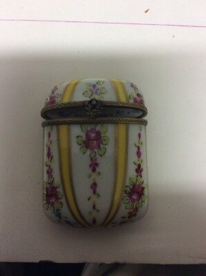 Limoges France Trinket Box Peint Main