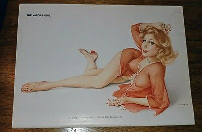 1974 Vargas Girl you're up pity to waste it playboy pinup print ad 1970's blonde