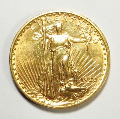 1923  ST. GAUDENS $20 DOUBLE EAGLE Gold Coin
