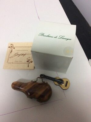 Limoges France Peint Main LAGLORIETTE Guitar Case