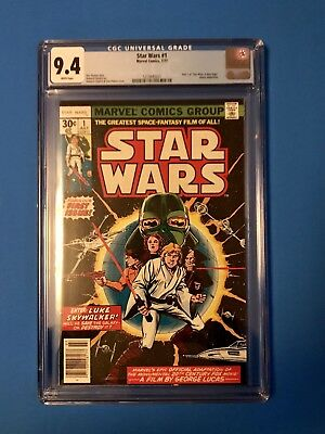 Star Wars comic #1 1977 CGC graded 9.4 WHITE PAGES