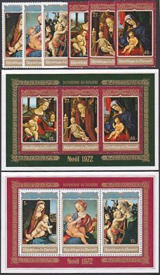 BURUNDI 1972 Christmas set and souvenir sheets MNH