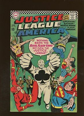 Justice League of America 43 FN+ 6.5 * 1 Book Lot * 1st Royal Flush Gang!!!