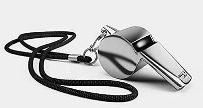 Classic Sports Coaches Referee Metal Whistle Black Cord Survival Umpires Kids