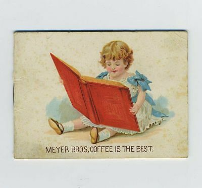 1800's Advertising Tracing Booklet Owl Coffee Meyer Bros St Louis MO bv1463