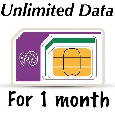 4G three UK Unlimited Data for 1 month works in 60 countries PAYG Sim three in 1