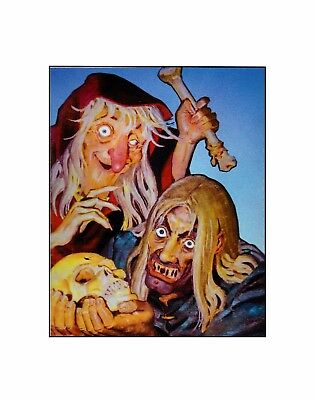 EC Comics presents...The Crypt Keeper & the old witch  classic horror  sericel