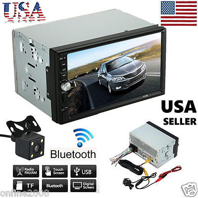 """7"""" Double 2DIN Car Stereo MP5 MP3 Player Radio Bluetooth USB AUX &Parking Camera"""