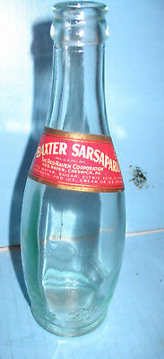 Billy Baxter Sarsaparilla Soda Bottle Red Raven Co Cheswick Pa Labeled Embossed