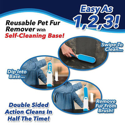 Hurricane Fur Wizard Pet Fur & Lint Remover Travel Size Wizard Portable Cleaner