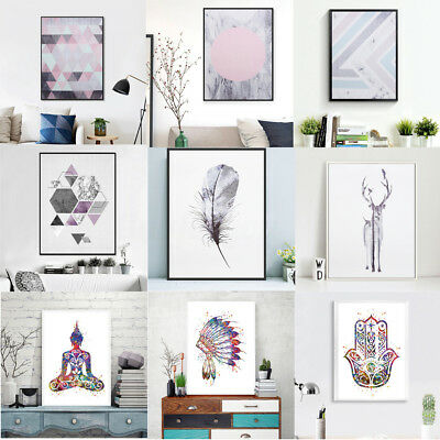 Abstract Minimalist Canvas Poster Art Prints Modern Painting Wall Home Decor
