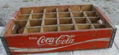1976 Enjoy Coca-Cola Coke Wooden Soda Crate Carrier Advertising Shelf Display #2