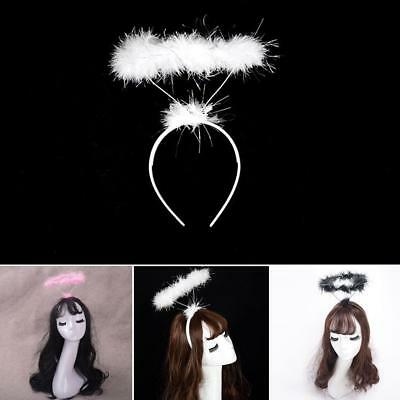 Feather Halo Headband Ring Angel Fairy Costume Hen Night Party Fancy Dress up C