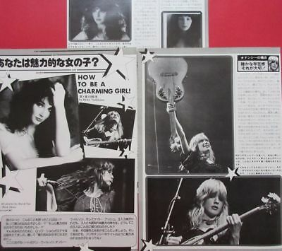 Heart Ann & Nancy Wilson Kate Bush 1978 Clipping Japan Magazine K3 U13 4Page
