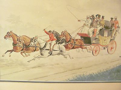 Southwest Stagecoach Russell Rutledge Waterhouse R.R Watercolor Art Drawing