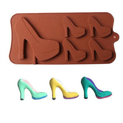 Silicone 3D High Heel Shoes Shape Chocolate Mould DIY Cake Decor Tools Mold J