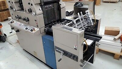 1988 Ryobi 3302 M Printing Press with set of new soft rollers Lith-O-Roll