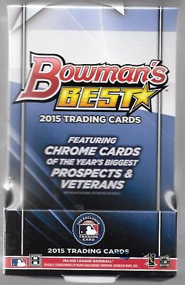 2015 Bowman's Best Baseball Factory Sealed Hobby Box (4 Autos Per Box)