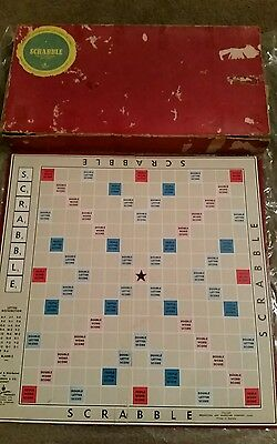 Rare vintage Scrabble board game (Reg. Pend.)